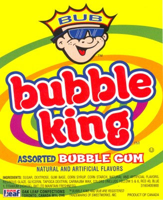 OAKLEAF BUBBLE KING ASSORTED GUMBALLS - 3650 COUNT