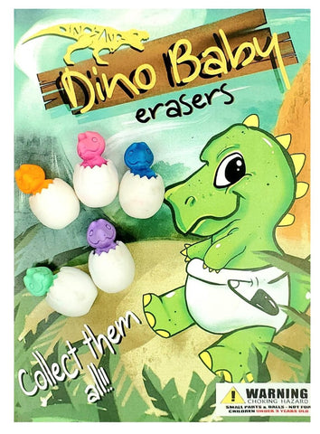 "1"" DINO BABY EGG ERASERS - 250 COUNT"