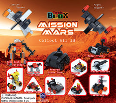 "2"" TECK BLOCK MISSION MARS VEHICLES DISPLAY"