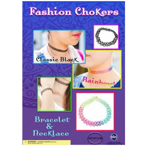 "1"" FASHION CHOKERS DISPLAY"