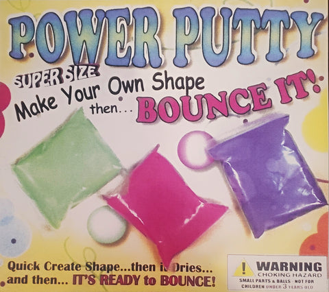 "2"" POWER PUTTY TOYS - 250 COUNT"
