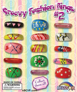 "1"" GROOVY FASHION RINGS #2 - 250 COUNT"