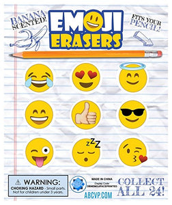 "1"" EMOJI ERASERS BANANA SCENTED DISPLAY"