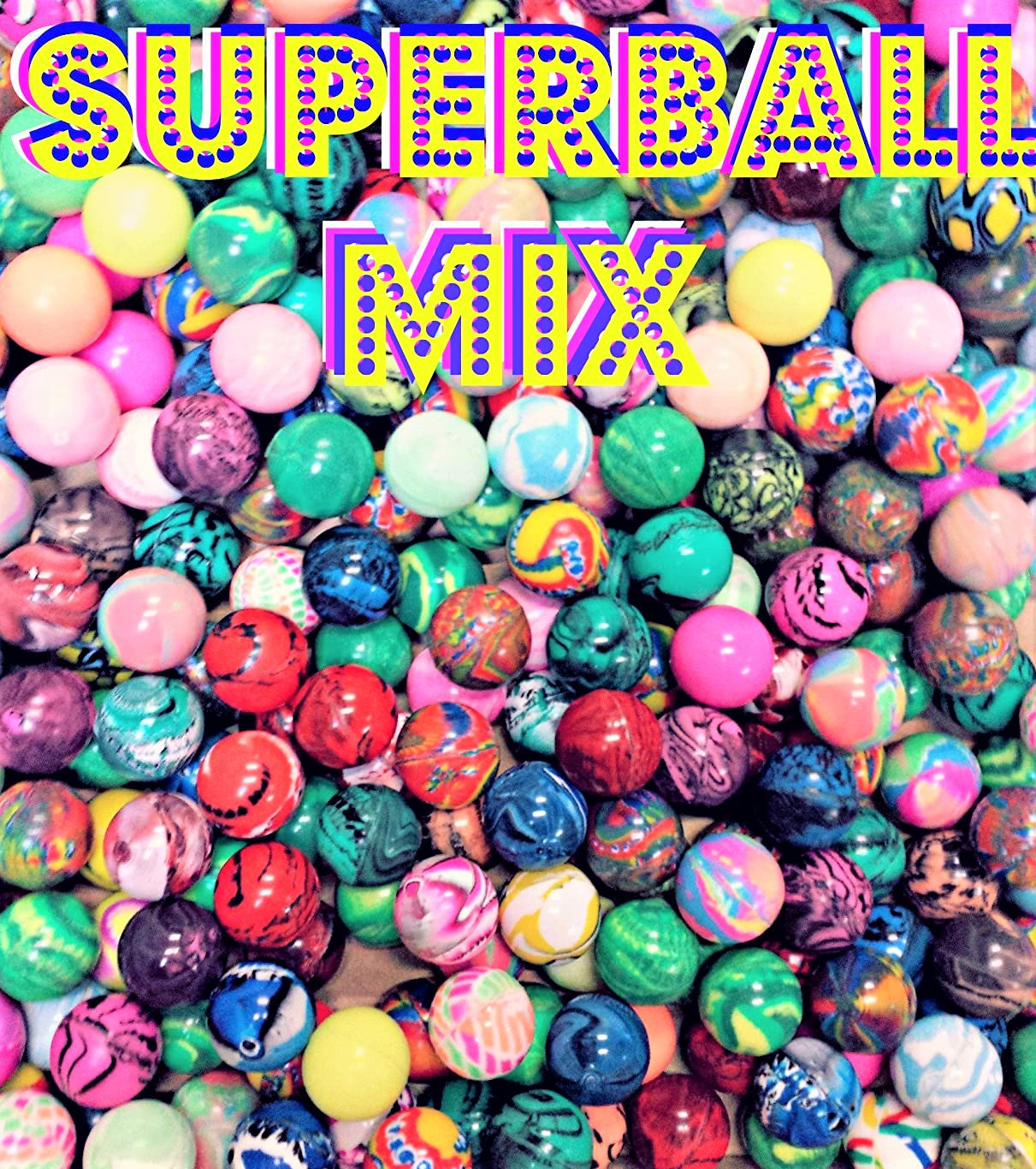 27MM ASSORTED SUPER BOUNCY BALLS - 250 COUNT