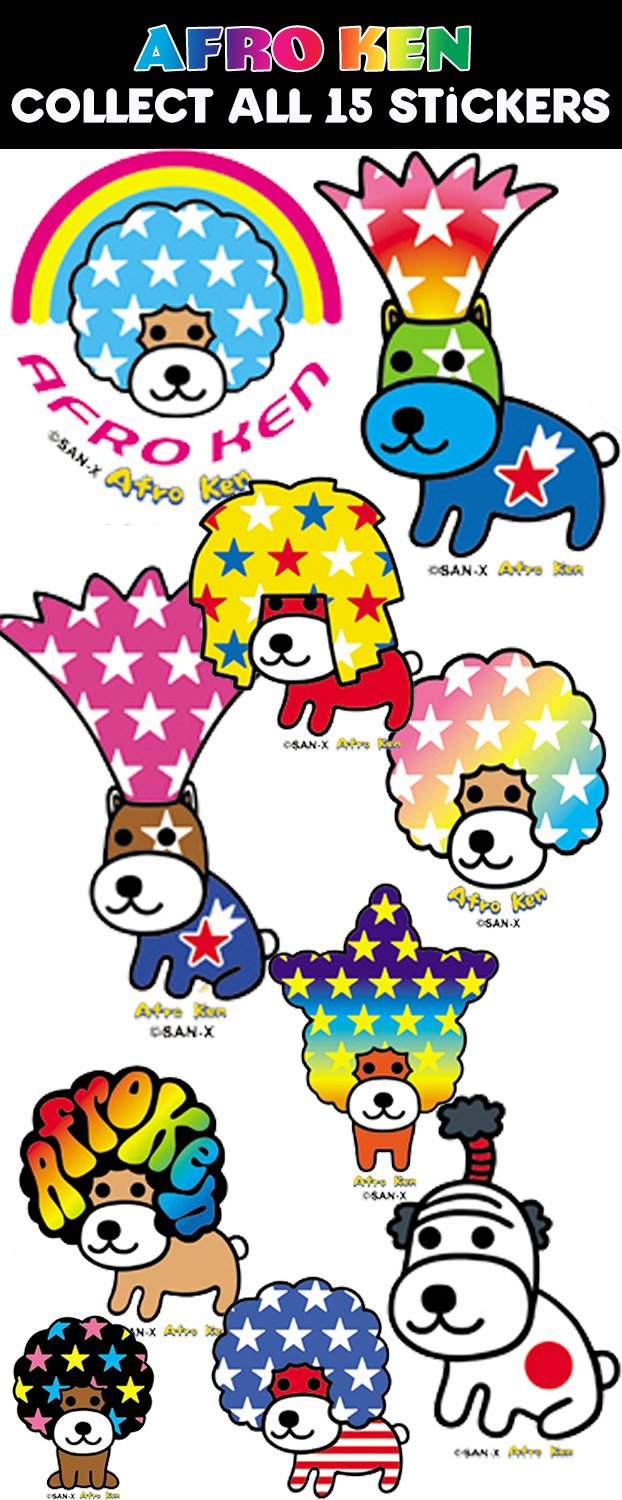 AFRO KEN STICKERS - 300CT