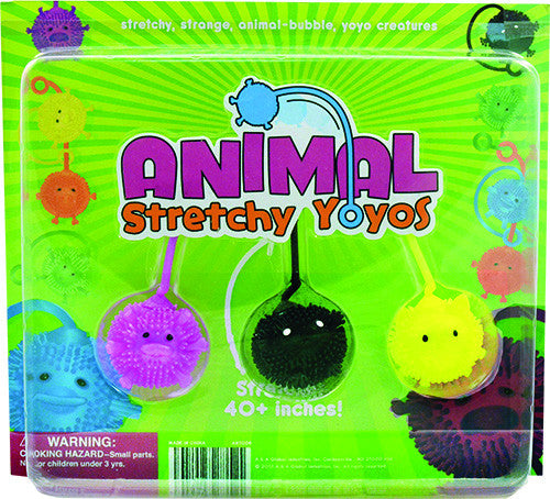 "2"" ANIMAL STRETCHY YOYOS - 250 COUNT"