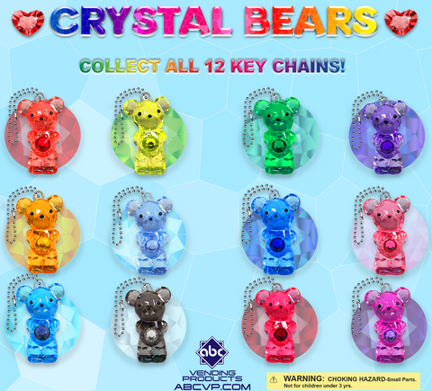 "2"" CRYSTAL BEARS - 250 COUNT"