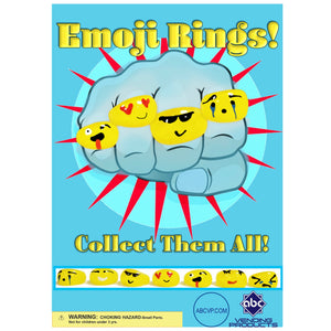 "1"" EMOJI ACRYLIC RINGS - 250 COUNT"