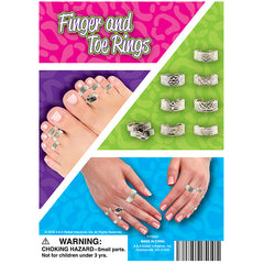 "1"" FINGER AND TOE RINGS DISPLAY"