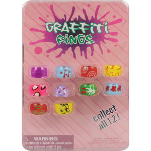 "1"" GRAFFITI RINGS  - 250 COUNT"