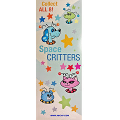 SPACE CRITTERS STICKERS DISPLAY