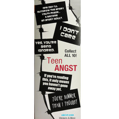 TEEN ANGST STICKERS DISPLAY