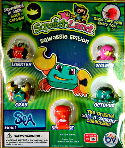 "1"" SQWISHLAND SEA SQWABBLE DISPLAY"