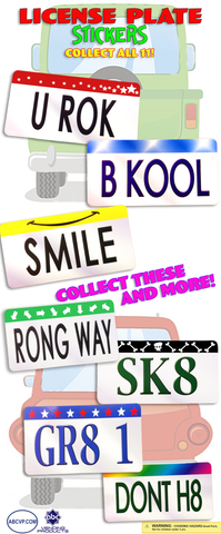 LICENSE PLATE STICKERS - 300CT