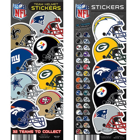 NFL HELMET STICKERS - 300CT