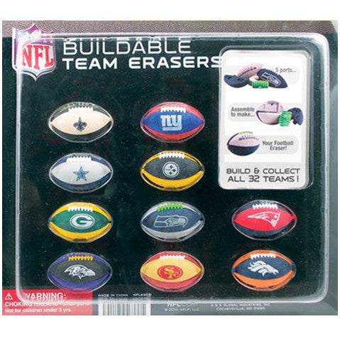 "2"" NFL PUZZLE ERASERS - 250 COUNT"