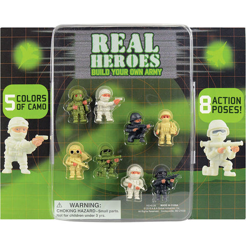 "2"" THE REAL HEROES DISPLAY"