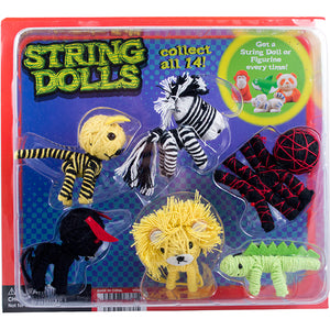 "2"" ANIMAL STRINGDOLLS - 250 COUNT"