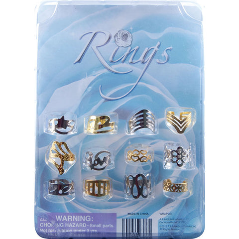 "1"" WRAP RINGS - 250 COUNT"