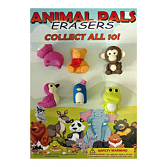 "1"" ANIMAL ERASERS DISPLAY"