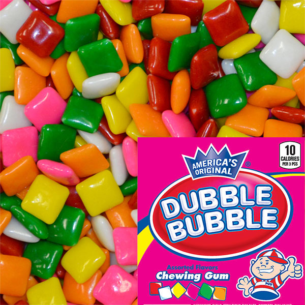 CONCORD DUBBLE BUBBLE ASSORTED TABS CHEWING GUM - 9900 COUNT (PRE-ORDER)