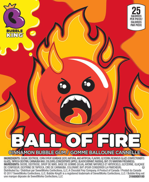 OAKLEAF BUBBLE KING BALL OF FIRE GUMBALLS 850 CT - NEW!!!-SPECIAL ORDER