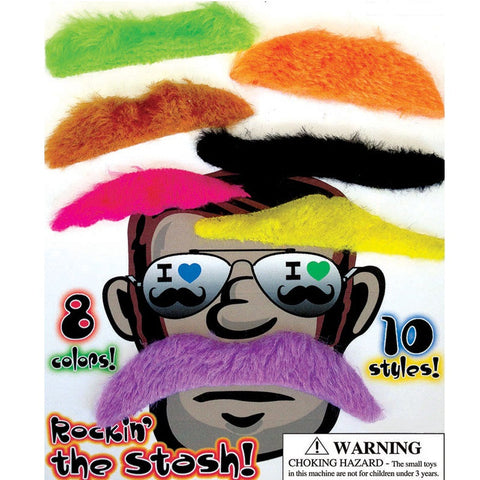 "1"" MUSTACHE MIX (COLORED) - 250 COUNT"