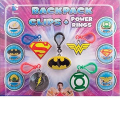 "2"" DC COMICS BACKPACK CLIPS + POWER RINGS DISPLAY"