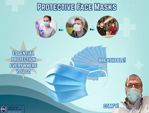 "2"" SURGICAL PROTECTIVE FILTER BACTERIA FACE MASKS - 250 COUNT"