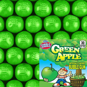 CONCORD DUBBLE BUBBLE GREEN APPLE GUMBALLS - 850 COUNT (PRE-ORDER)