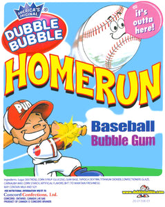CONCORD DUBBLE BUBBLE BASEBALL GUMBALLS - 850 COUNT