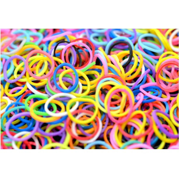 "1"" RAINBOW BANDS - 250 COUNT"