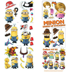 MINIONS DRESS UP STICKERS DISPLAY