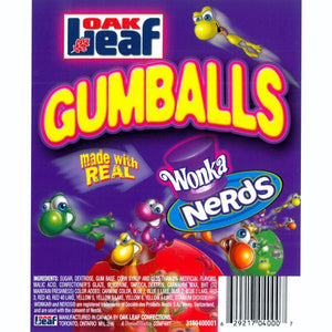 OAKLEAF NERDS GUMBALLS - 850 COUNT