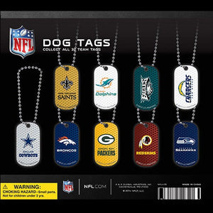 "2"" NFL DOG TAGS - 250 COUNT"