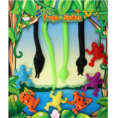 "1"" STICKY FROGS AND SNAKES DISPLAY"