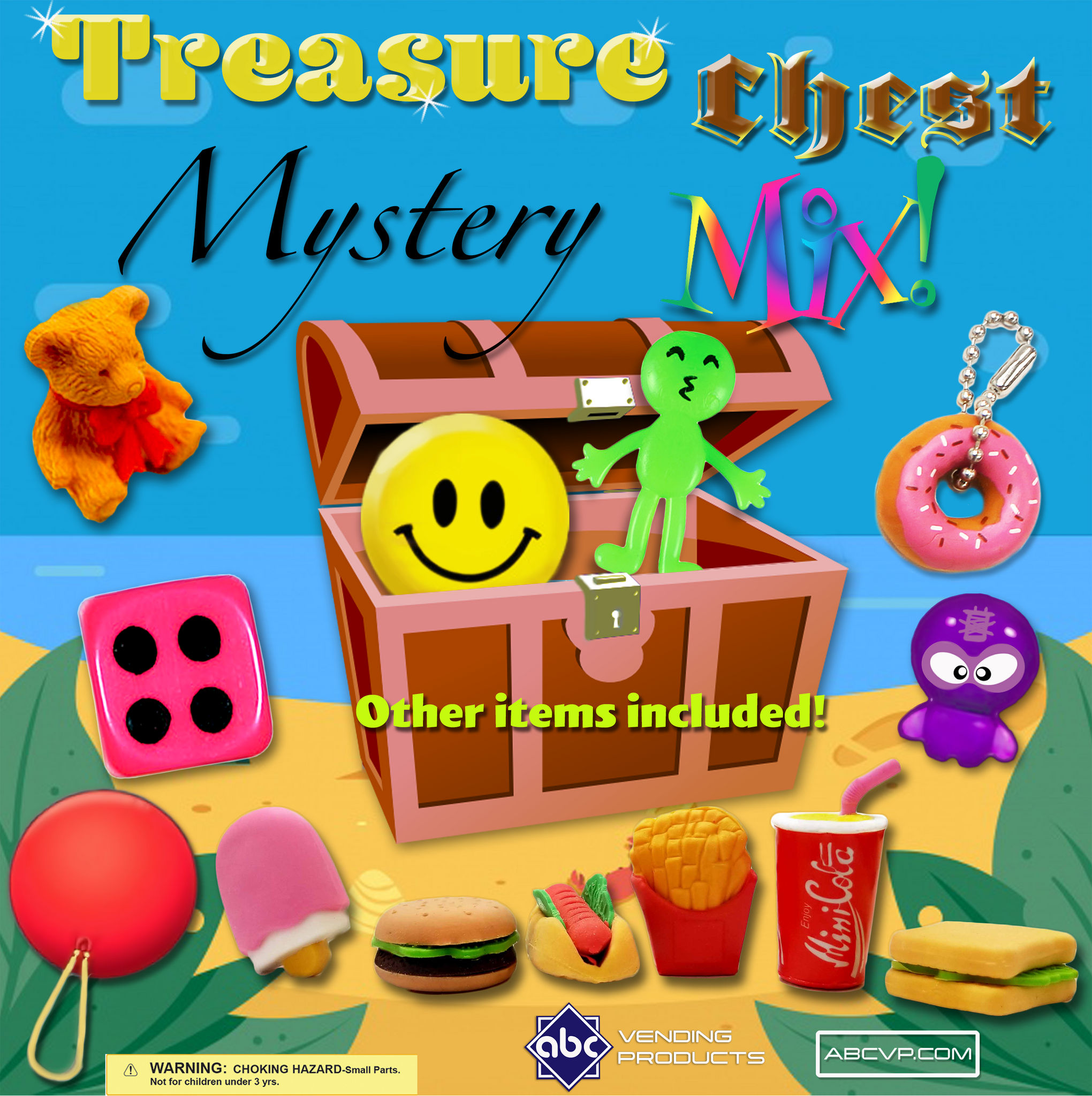 "1"" TREASURE CHEST MYSTERY MIX - 250 COUNT"