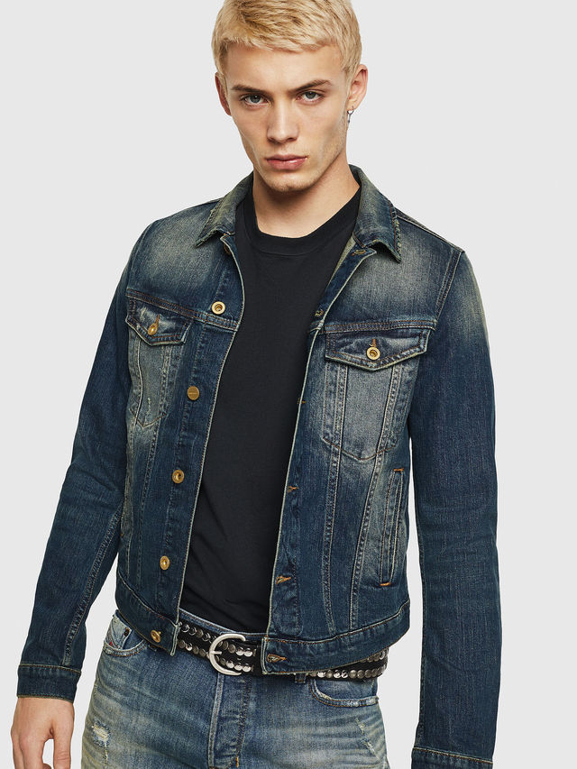Diesel D-GALY Slim-fit trucker in denim
