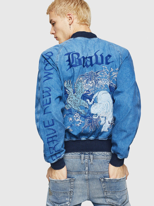 Diesel D-BAK Reversible jacket in denim