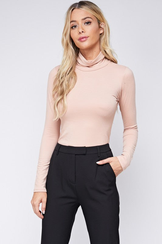 LONG SLEEVE TURTLE NECK NUDE