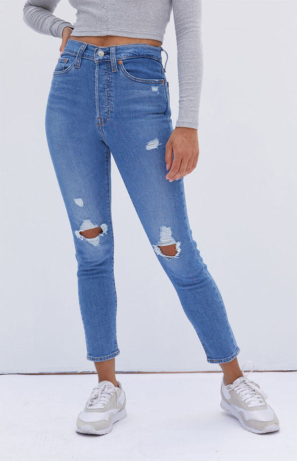 Levi's® Womens Wedgie Skinny in sun devil trashed