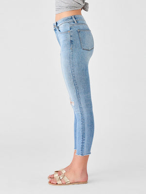 DL, dl denim, denim, womens denim, womens, skinny, rips, white wash, toledo, hig rise, skinny denim, farrow crop high rise