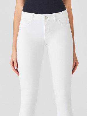 DL, dl denim, denim, womens denim, womens, skinny, white denim, white jeans, white, skinny white jeans, mid rise, skinny sculpt fit