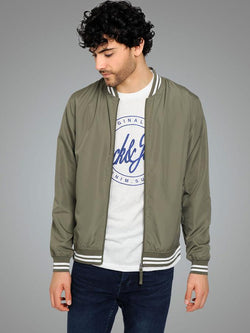 BAHAMAS BOMBER JACKET IN OLIVE