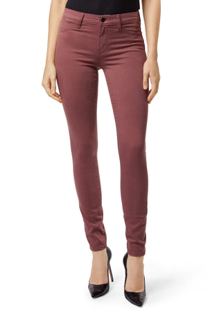 J Brand Madame Mid-Rise Super Skinny Luxe Satin Denim