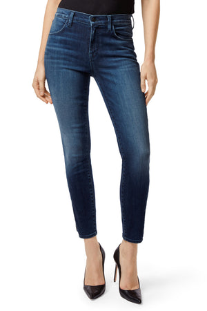 j brand, denim, womens denim, womens, blue, suede, skinny, highrise