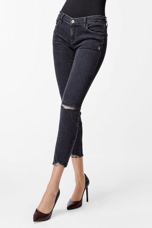 J BRAND Alana High-Rise Cropped Super Skinny In Ashes Destruct