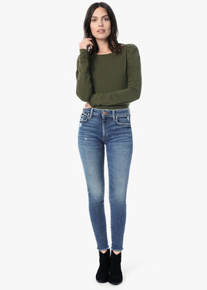 joes, joe jeans, joe denim, womens denim, denim, joes womens denim, skinny fit, high rise, skinny, frayed, women, georgina