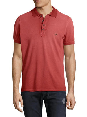 polo, mens diesel, diesel, red, cotton