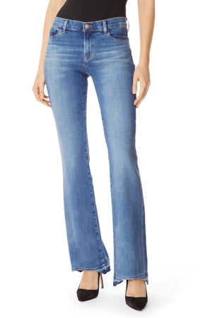j brand, denim, womens denim, womens, blue, mid rise, bootcut denim